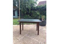 Art deco 1950's card/dealer table, solid wood