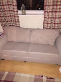 3 seater cream sofa for sale great condition