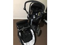Baby comfortable black push chair
