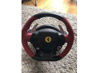 Thrust master Ferrari 458 spider, racing wheel.