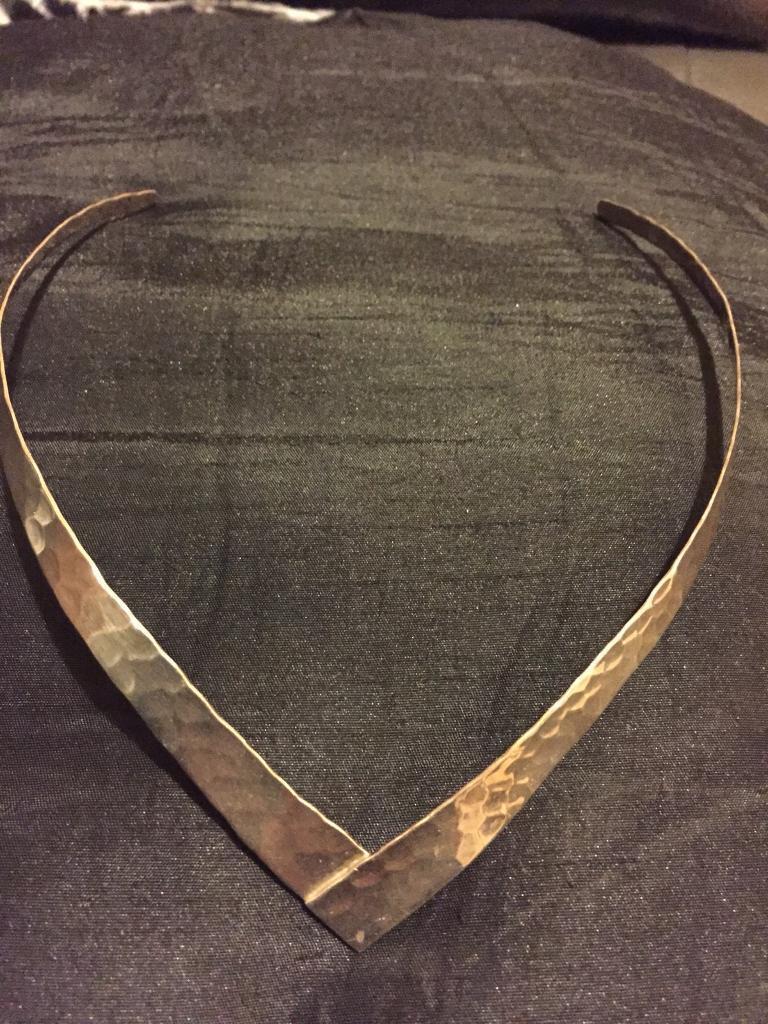 925 silver cuff necklace
