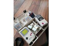Nintendo Gameboy Original + Gameboy camera + printer + 2 games + case