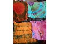 Tie die t shirts any size different designs