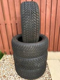 4 x SONAR 225/50 R17 Winter Tyres - Nearly New