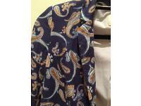 Hinge patterned blazer