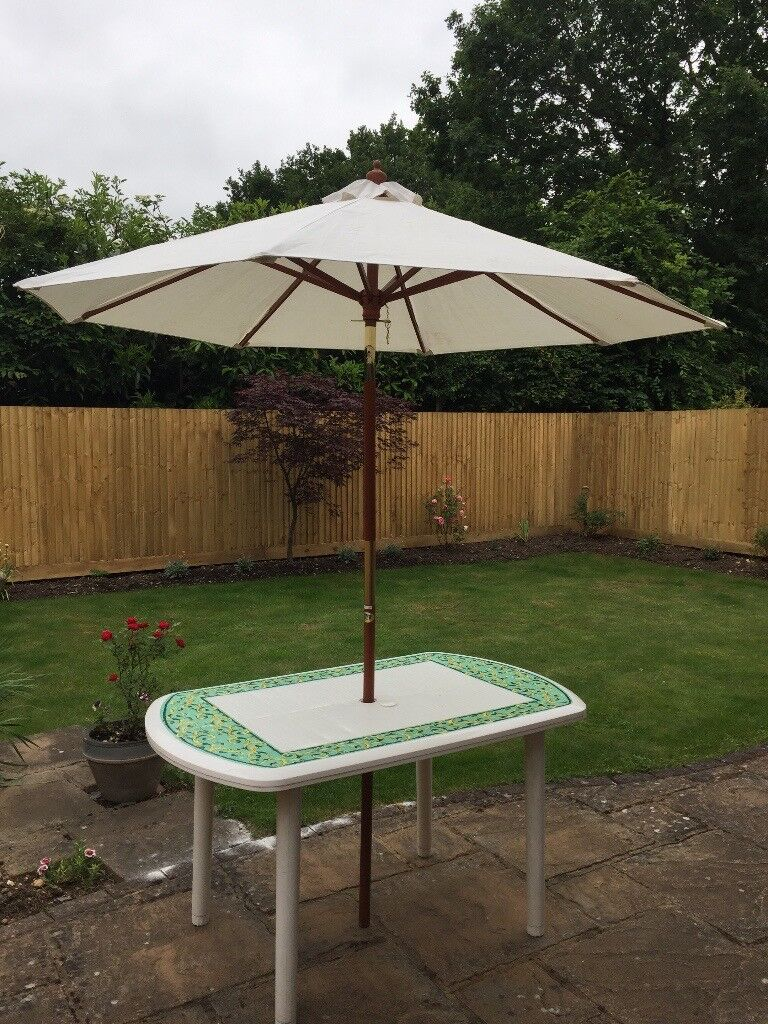 Garden Table with Parasol | in St Albans, Hertfordshire | Gumtree