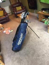 Full set of golf clubs & bag
