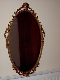 Vintage gold/brass hanging mirror