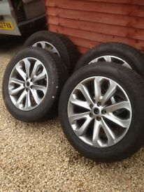 4 *20 inch range rover alloys and tyres of
