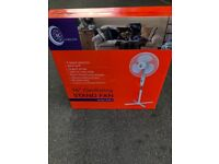 "Bran new stand fan 16"" boxed"