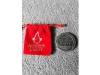 Assassins creed unity collectors coin and pouch
