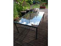 Glass & Metal Coffee Table.