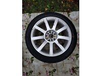 Audi VW alloy wheel with tyre 225 45ZR17 Pirelli