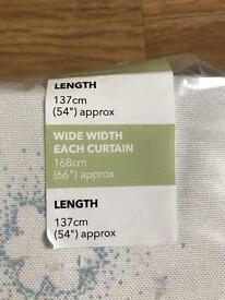 M&S floral cloud curtains brand new in packaging