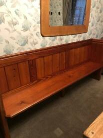 Old church pew bench seat