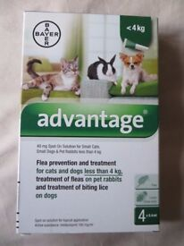 Advantage Flea Prevention Cats, Dogs, Rabbits under 4Kg