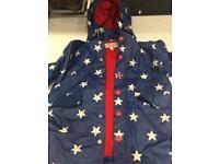 Blue and white star raincoat 1-2