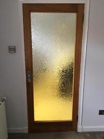 Hard wood glazed door