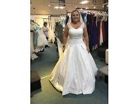 Oriental Pearl Ivory Wedding Dress- Size 14