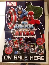 Topps Marvel Hero Attax Trading Cards & Poster