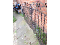8FT WIDE WROUGHT IRON GATES 2X