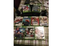 Xbox 360 with 2 controllers and 9 games 60ono