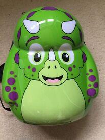 Kids hardshell dinosaur backpack excellent condition
