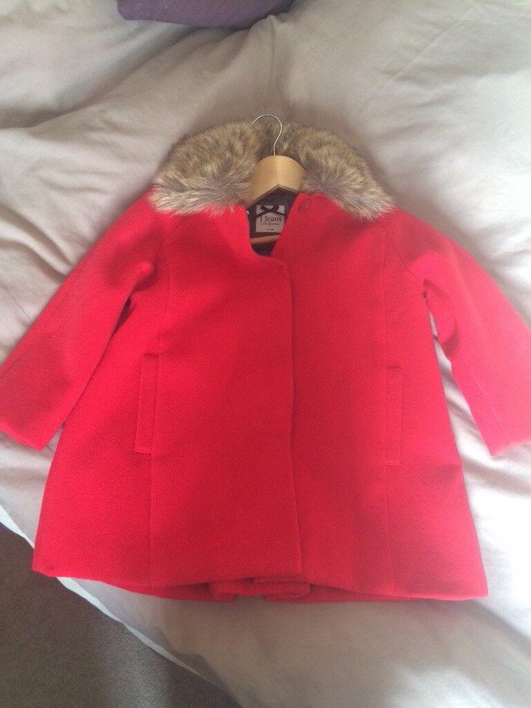 Jasper Conran Red Coat Age 5