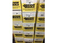 Everbuild white brown black clear boxes of Silicone