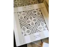Grey patterned floor tiles Laura Ashley 'Mr Jones'