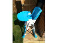 Multifunctional Foldable High Chair Baby Feeding Travel Highchair for Girl Boy