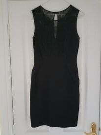Oasis size 8 black dress