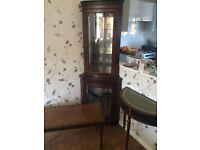 Antique Corner Cabinet and Tables