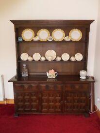 Solid darkwood Welsh dresser
