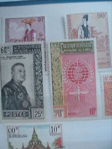 Selling My Stamp Collection---Laos Lot