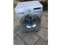 LG 8kg direct drive washing machine (silver)