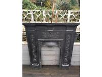Beautiful and ornate period fireplace and mantle