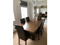 Barker and Stonehouse dining table and chairs