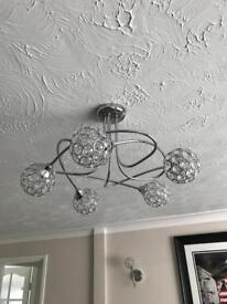 Ceiling and 2 wall lamps