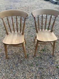 Pair pine chairs £25