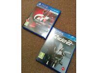 PS4 games: gran turismo sport & ride 2