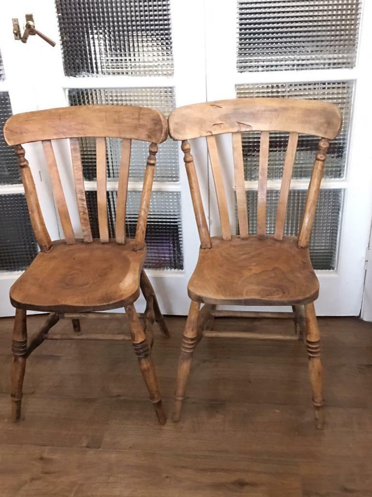 GENUINE VICTORIAN PINE CHAIRS FREE DELIVERY LDN🇬🇧no TABLE