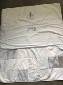 Cot bed set and matching curtains