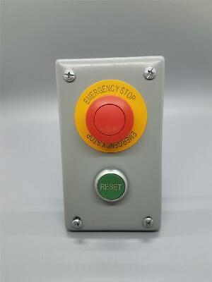 Emergency Stop And Reset Switch Enclosure Cover Assembly W Eaton M22 Switches