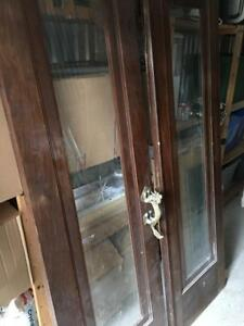 Antique French Doors with Exotic Brass Handle
