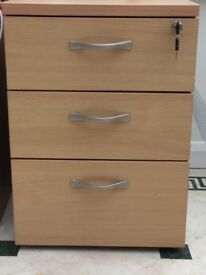 Oak effect filing drawers