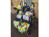 Gorgeous cosatto double buggy