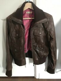 be10a0e5d70 Leather look biker jacket size 18 new without tags