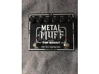 EHX Metal Muff with Top Boost Fuzz/Distortion Pedal