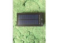 Solar panel power bank